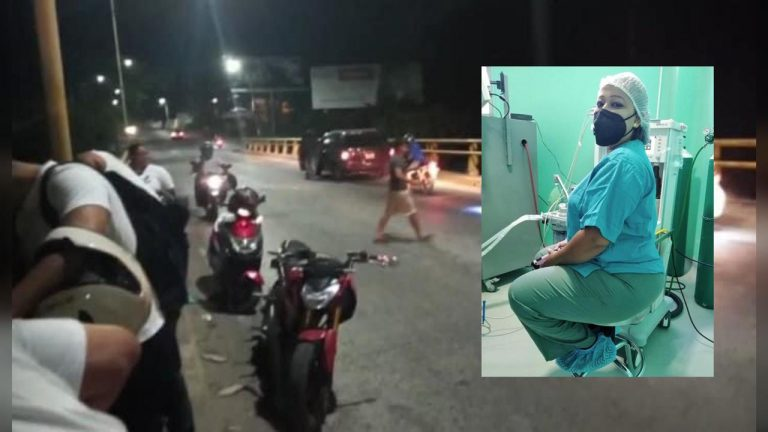 Muere anestesióloga al chocar y caer del puente Danto en La Ceiba; iba en moto