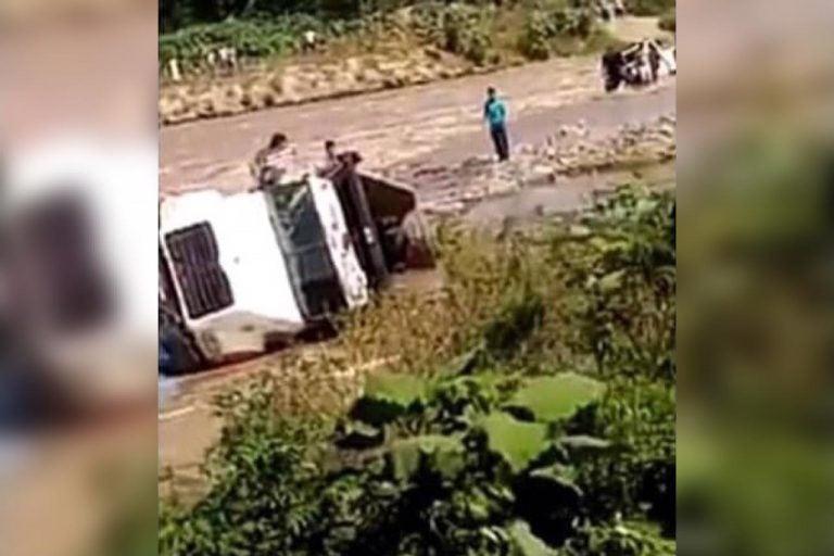 ¡Alerta! Río Chamelecón se desborda y deja tres sectores incomunicados
