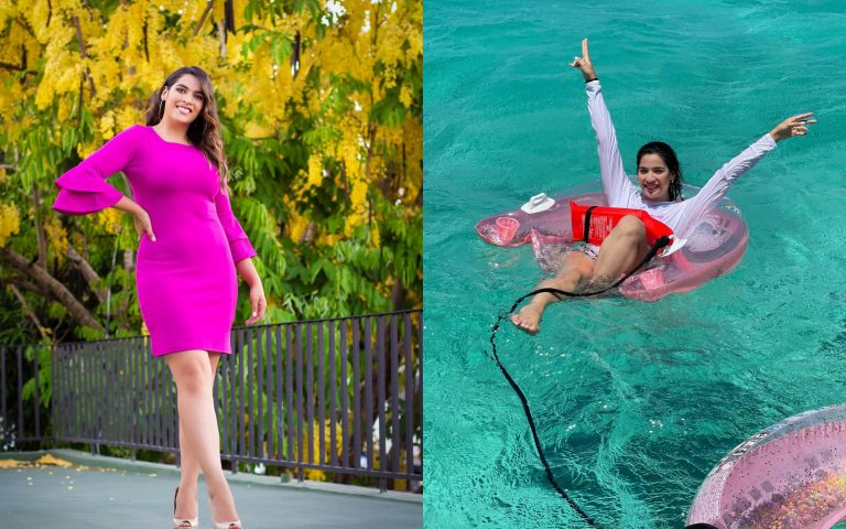 Las románticas fotos de Carolina Lanza y su novio de vacaciones en Roatán