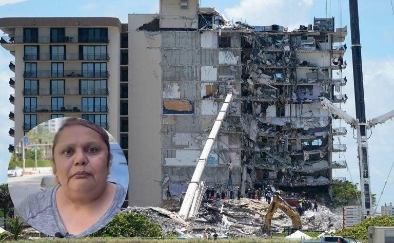 """""""Pensé que se había metido el mar"""": hondureña relata terror que vivió en derrumbe en Miami"""