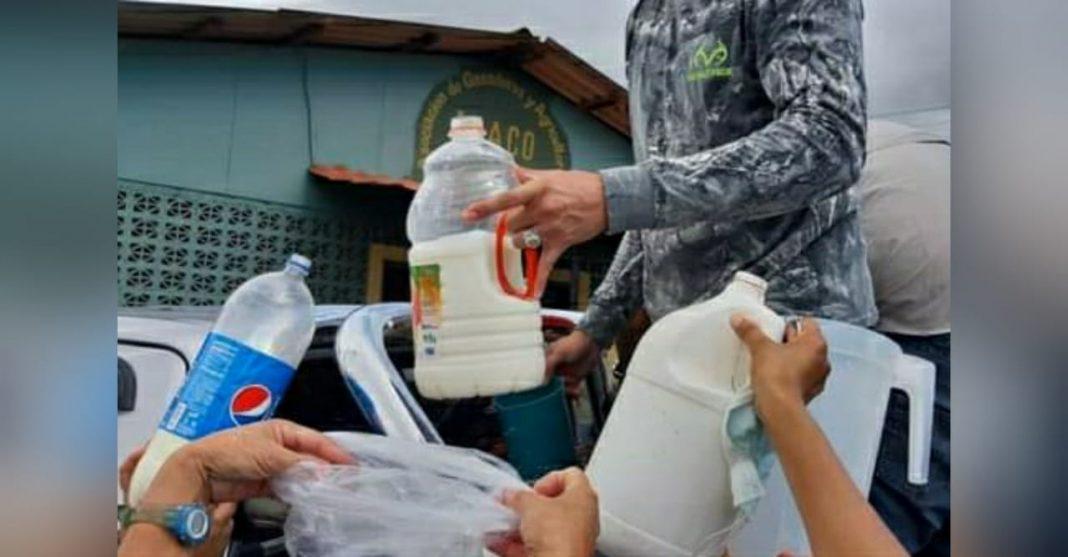regalan leche en Olancho
