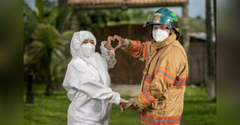 Amor servicial: enfermera y bombero, héroes de primera línea, se casarán