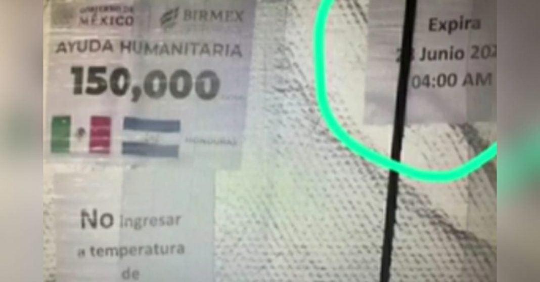 vacunas donadas por México a Honduras