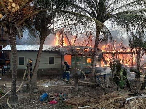 Incendio en Roatán: once familias «quedan en la calle» por un ventilador