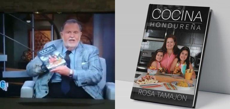 Presentador de Univisión destaca libro de gastronomía de Honduras hecho por una catracha