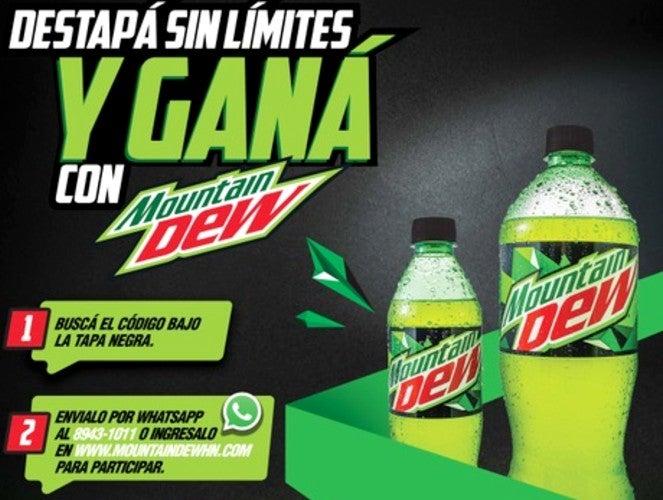¡Destapa y gana! Mountain Dew lanza promoción con premios cada semana