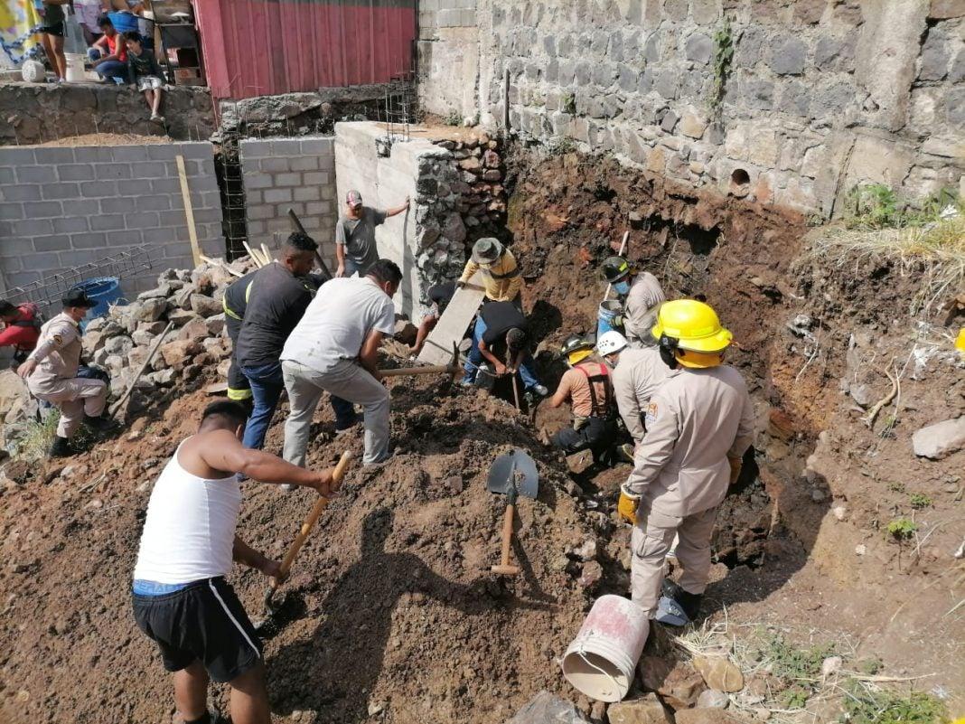 Albañiles soterrados en Comayagüela
