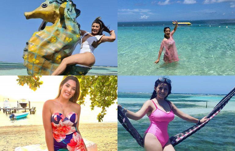 GALERÍA| Las bellas presentadoras que engalanaron las playas de Roatán