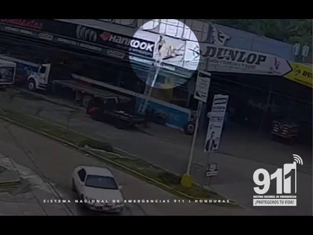Choluteca: joven se desploma al rozar cable de alta tensión cuando instalaba valla