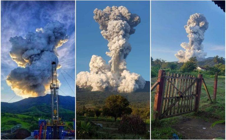 GALERÍA| Vídeo capta la potente erupción de un volcán en Costa Rica