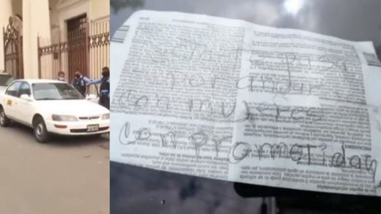 Comayagüela: Hallan taxi abandonado con rótulo que dice «por andar con mujeres comprometidas»