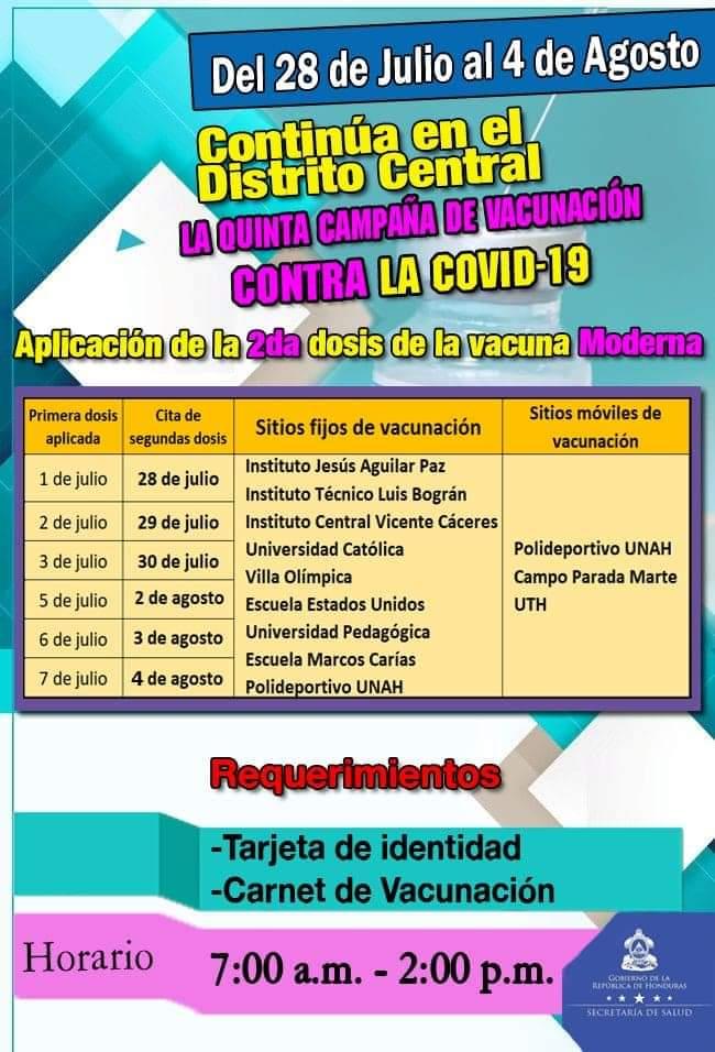 Vacunación en Tegucigalpa.