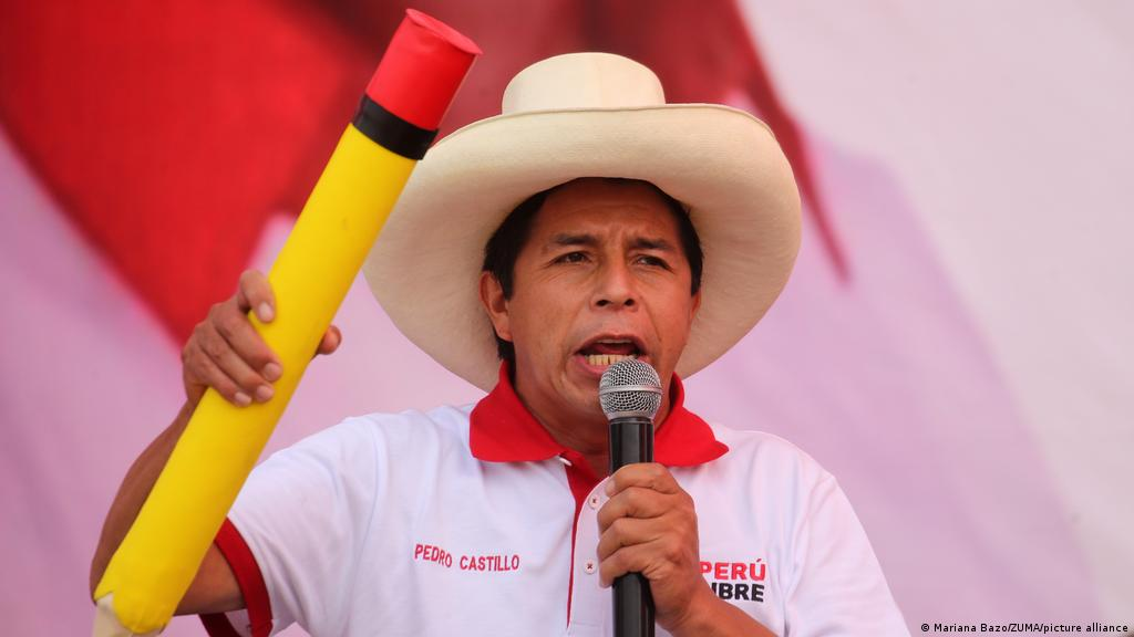 Pedro Castillo presidente de Perú