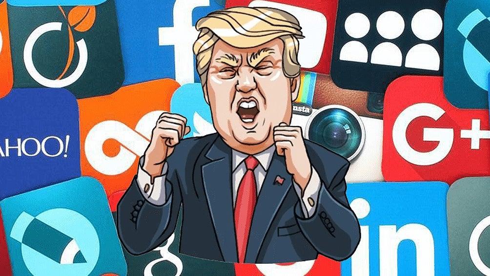 trump demanda a facebook y twitter