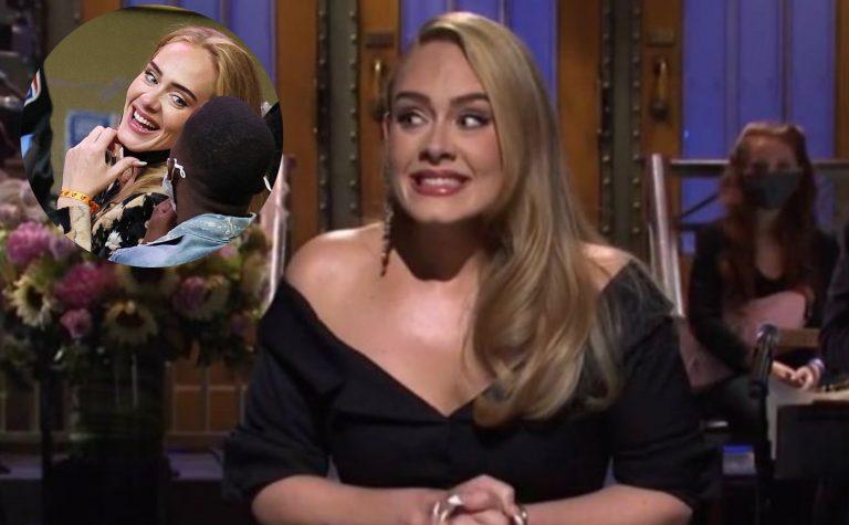 ¡Radiante! Adele reaparece en partido de la NBA y con un curioso acompañante