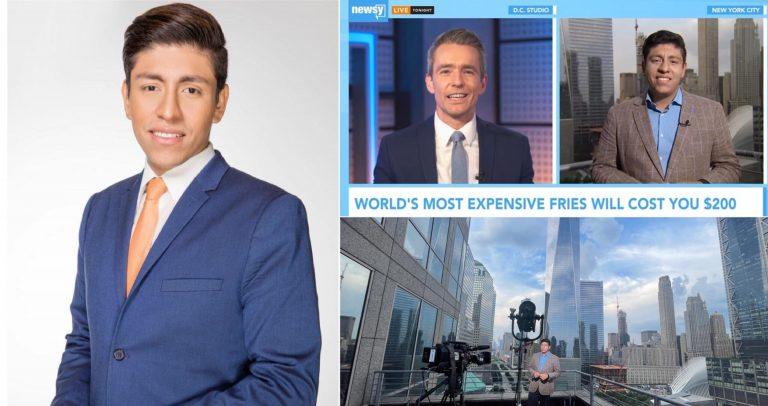 Hondureño Axel Turcios se convierte en corresponsal de reconocido canal de EEUU
