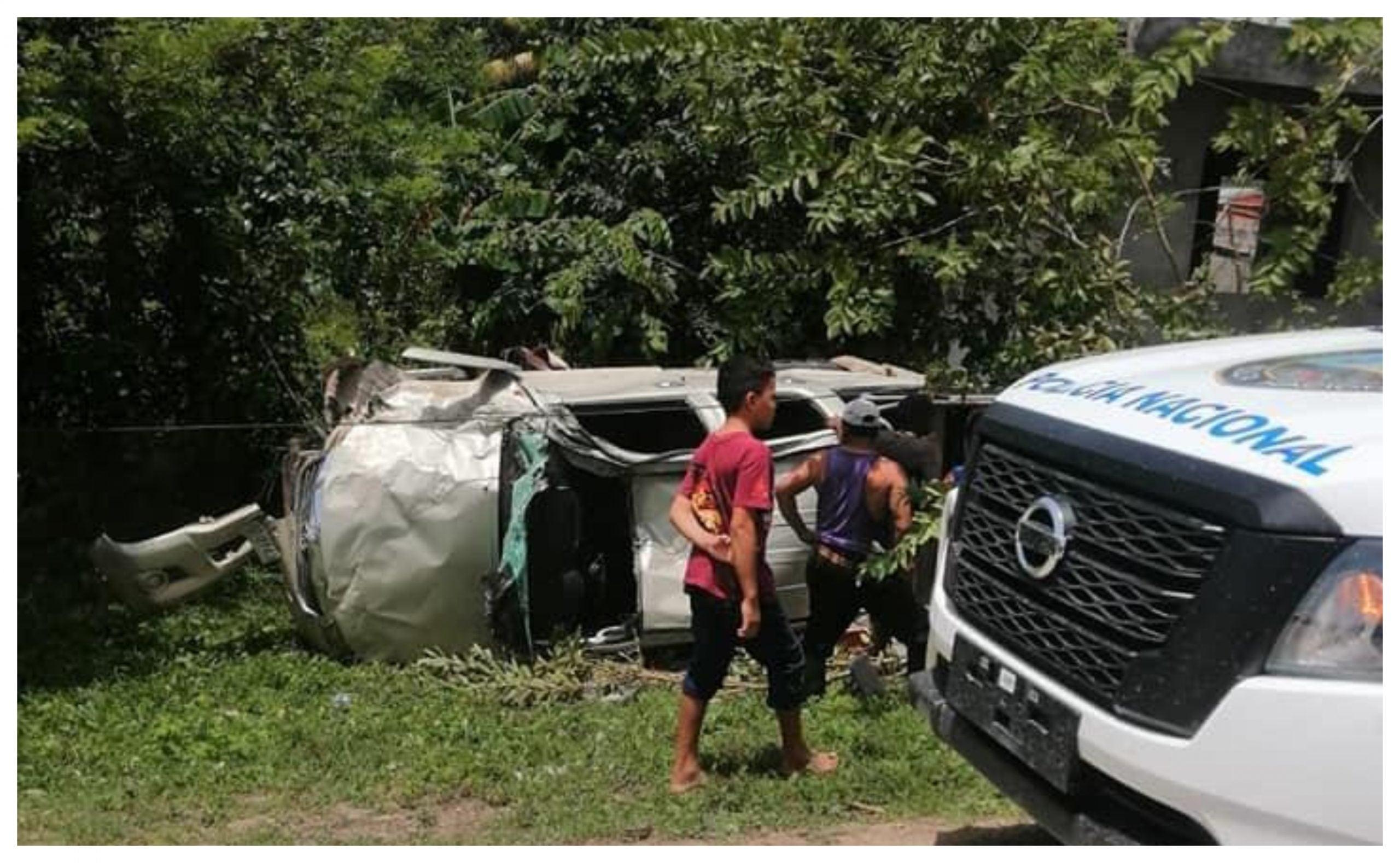 Accidente en Colón muertos