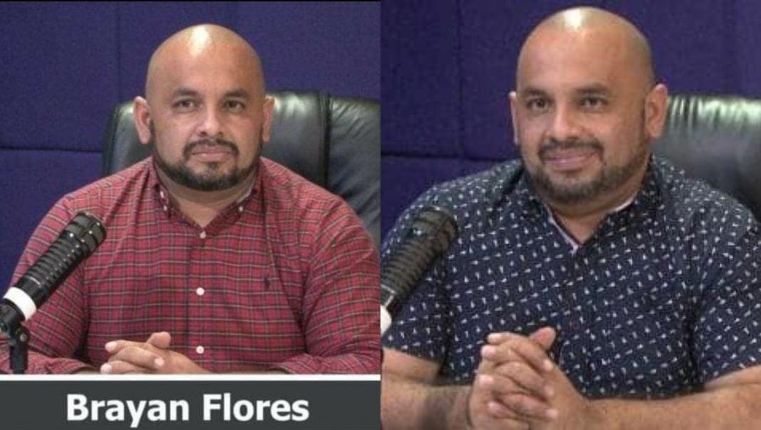 Periodista Brayan Flores COVID