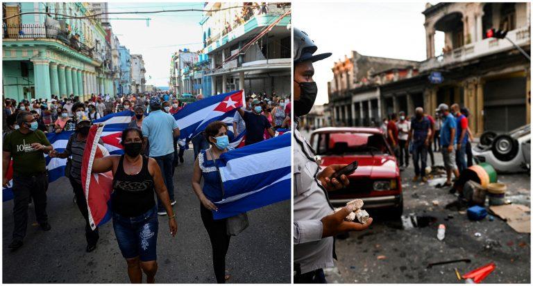 Cuba «es sacudida» por manifestaciones inéditas contra el gobierno