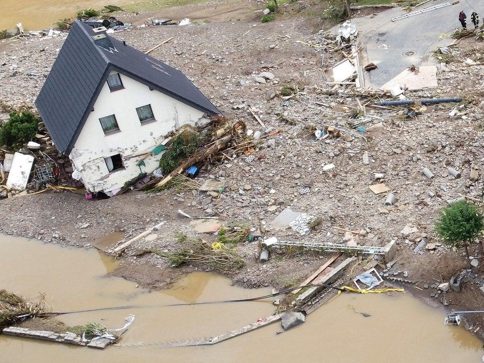 inundaciones Alemania y Bélgica