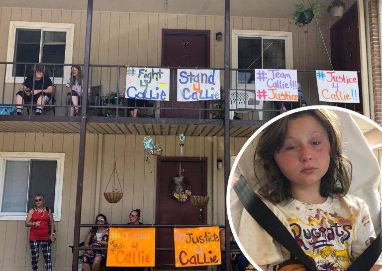 Callie, la niña de 10 años a la que vecinos golpearon brutalmente