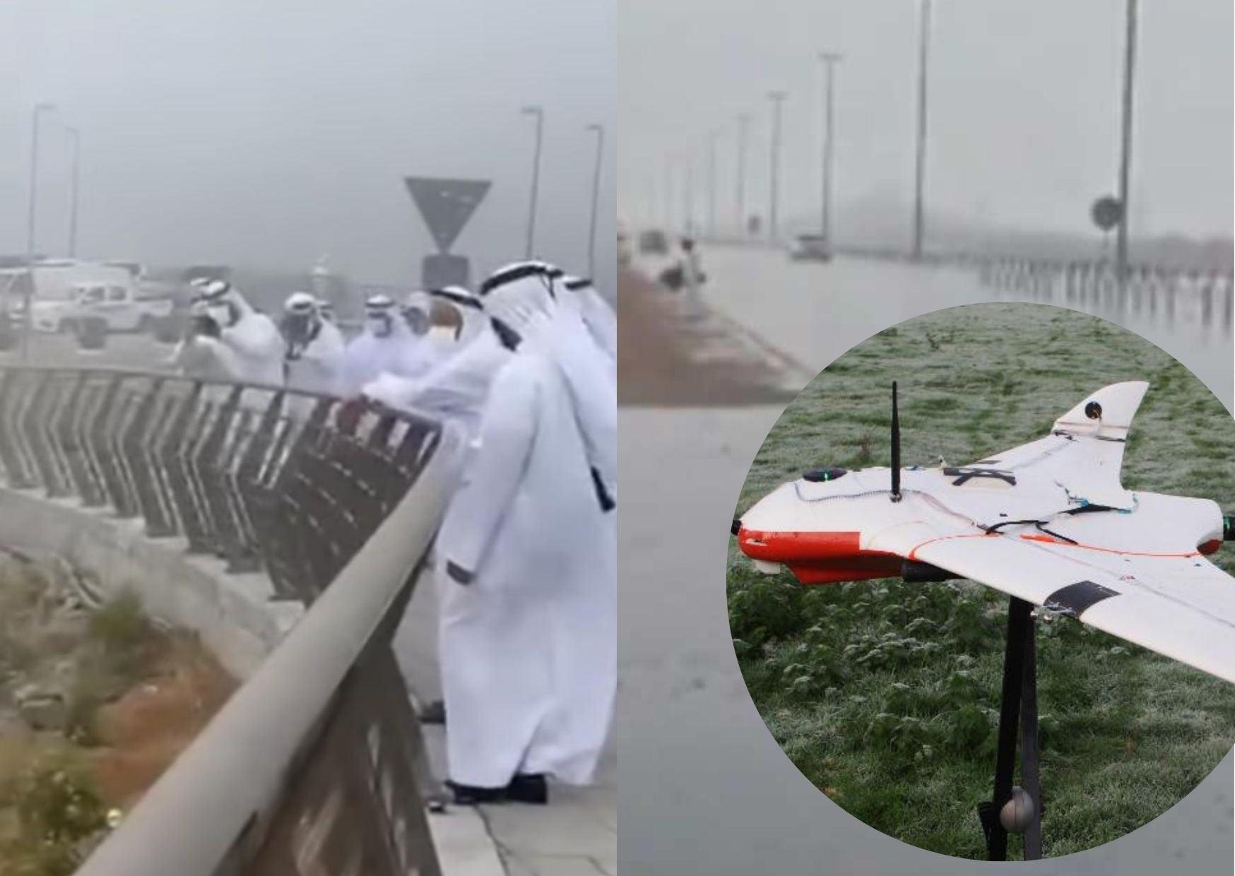 emiratos árabes lluvia artificial