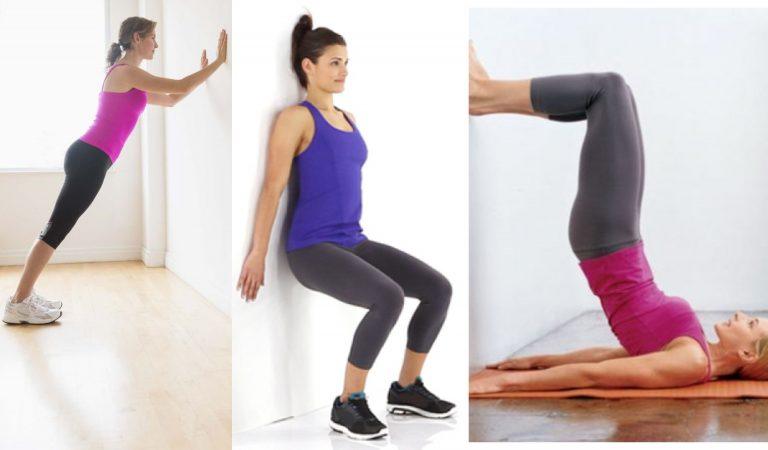 Ejercicios para tener abdominales fuertes con ayuda de la pared