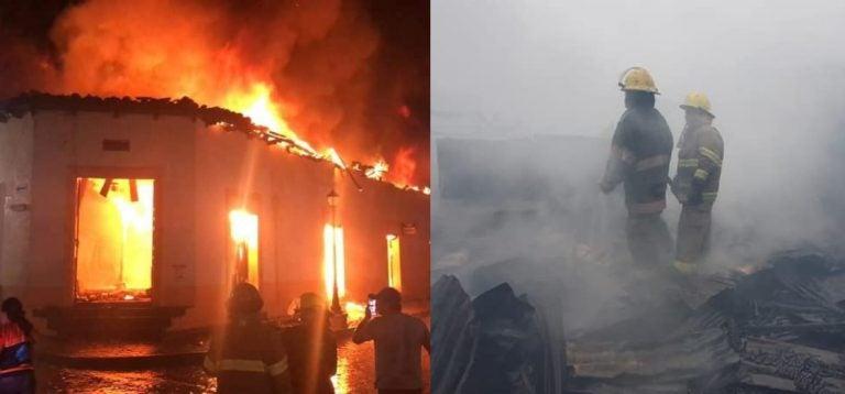 Incendio deja en cenizas unos 500 negocios en mercado de Gracias