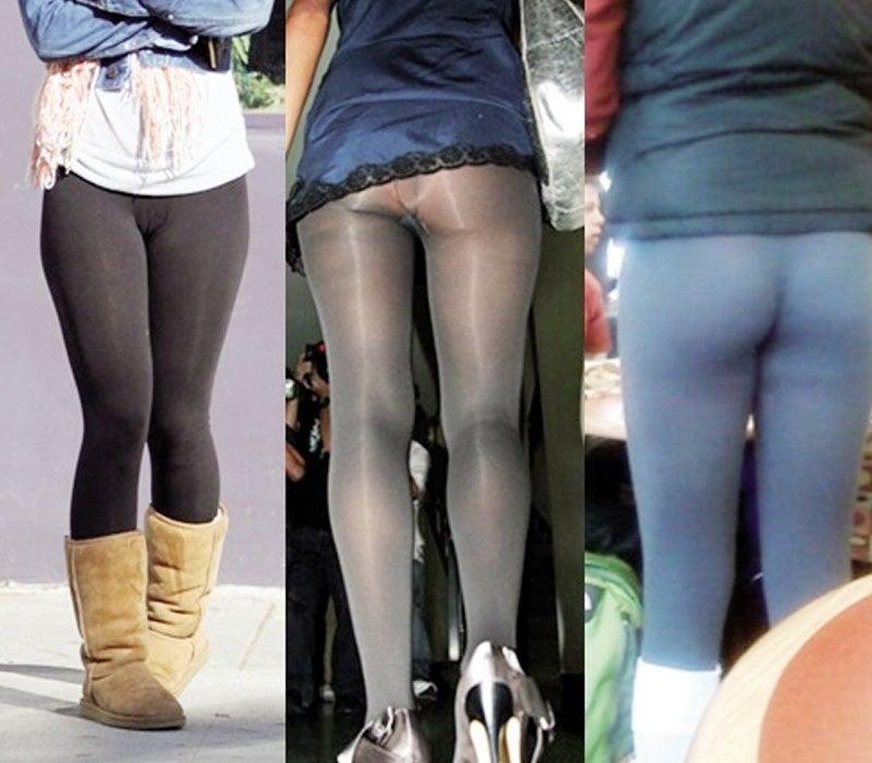 Uno de los peores errores: leggins muy transparentes o gastadas.