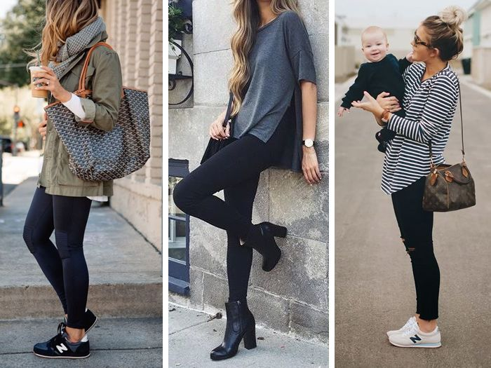 Tres formas elegantes para llevar leggins.