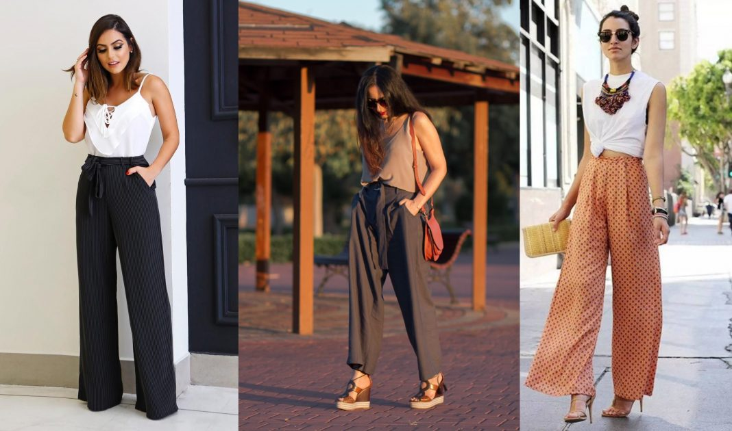 Outfits pantalones anchos