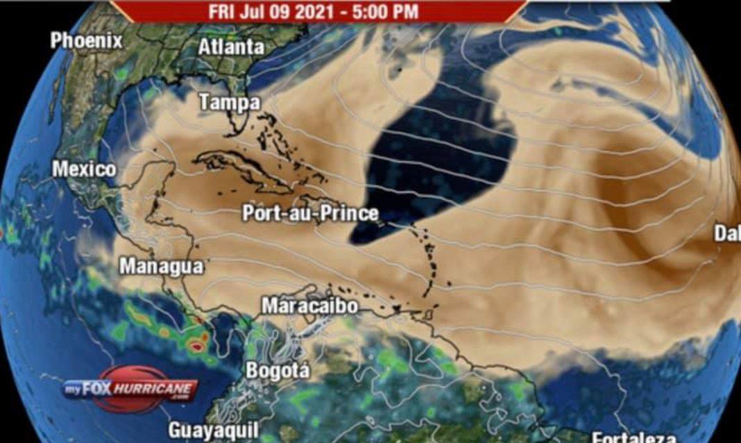Nube polvo Sahara Honduras