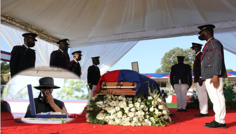 Entre lágrimas y pesar, Haití da el último adiós al presidente Jovenel Moise
