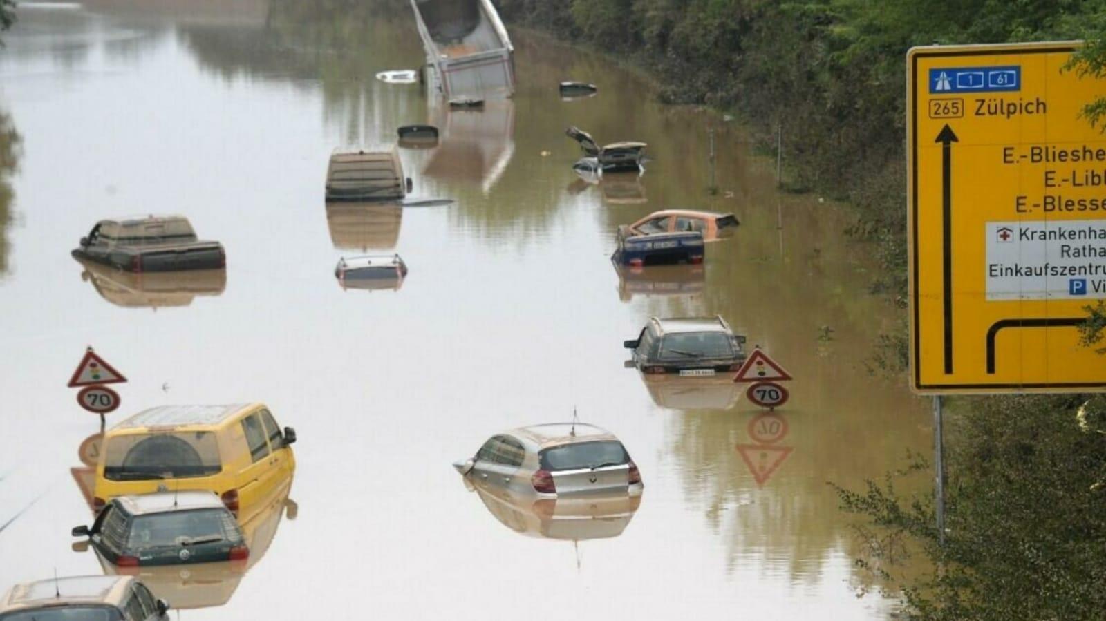 inundaciones en Alemania y Bélgica