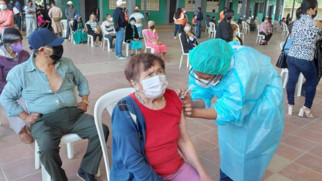 vacunación segunda dosis en Danlí