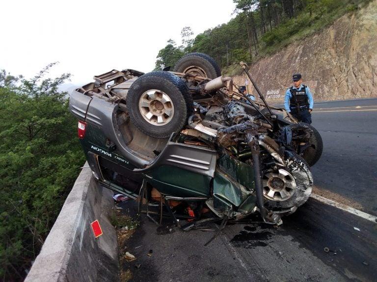 Fatal accidente en la CA-5: mueren dos empresarios mexicanos y un hondureño