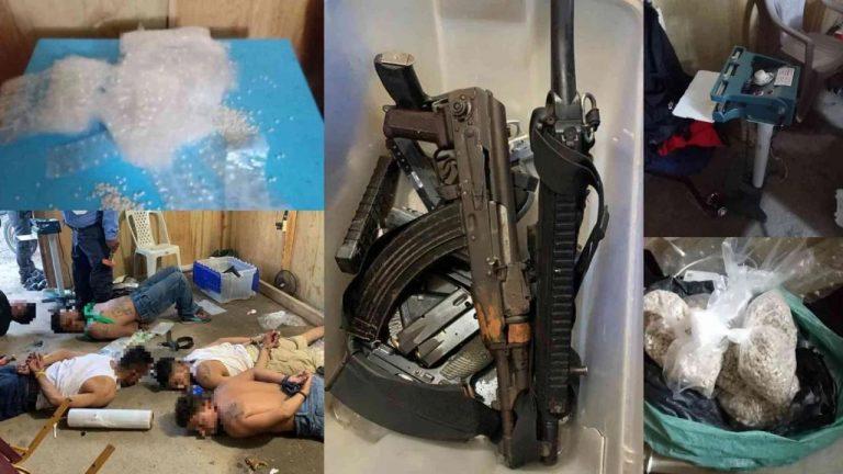 SPS: en «santuario» de la MS-13 decomisaron armas y L 10 millones en droga