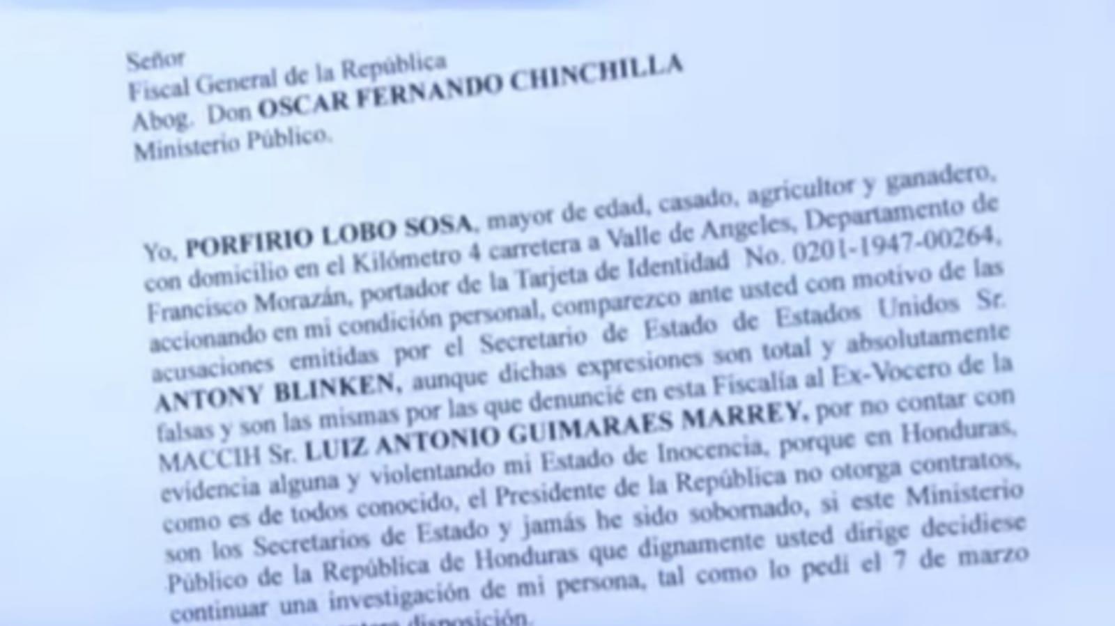 expresidente Porfirio Lobo Sosa