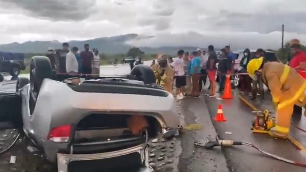 accidente de tránsito en Comayagua