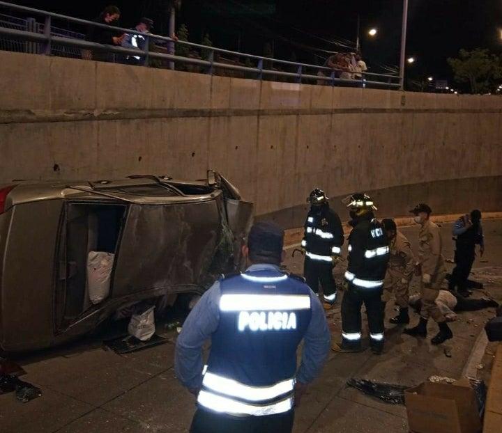 accidente túnel UNAH
