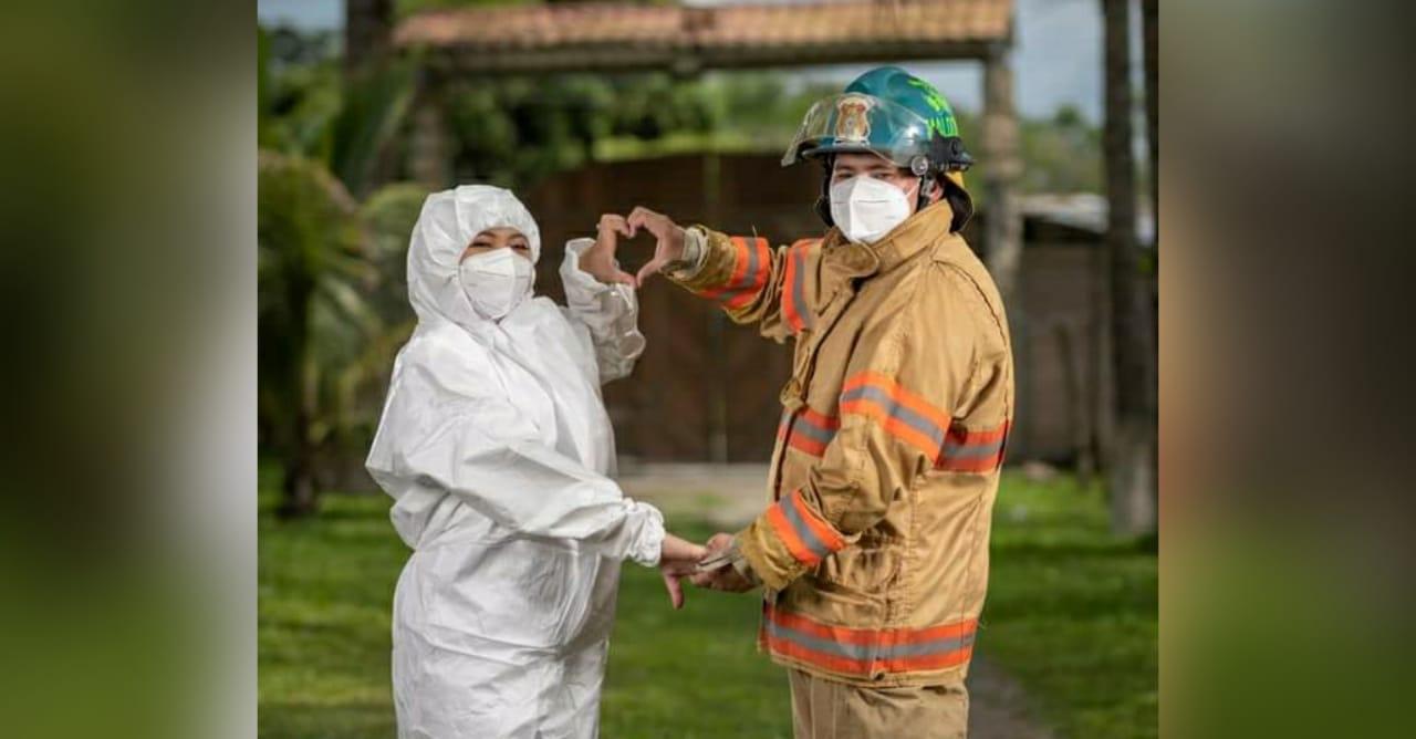 enfermera y bombero se casan en Ocotepeque
