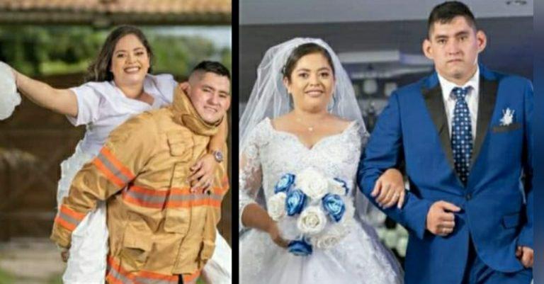 """Un amor """"de primera línea"""": enfermera y bombero se casan en Ocotepeque"""