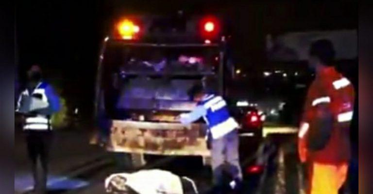 Motociclista muere al impactar contra camión de basura en la capital