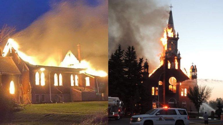 Canadá: queman 10 iglesias tras descubrir más de 1,000 tumbas de niños indígenas
