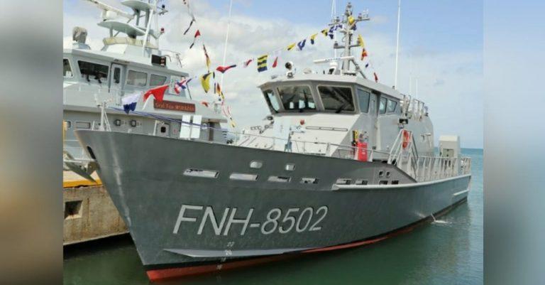 """Fuerza Naval recibe lancha patrullera """"Río Aguán"""" para fortalecer operaciones"""