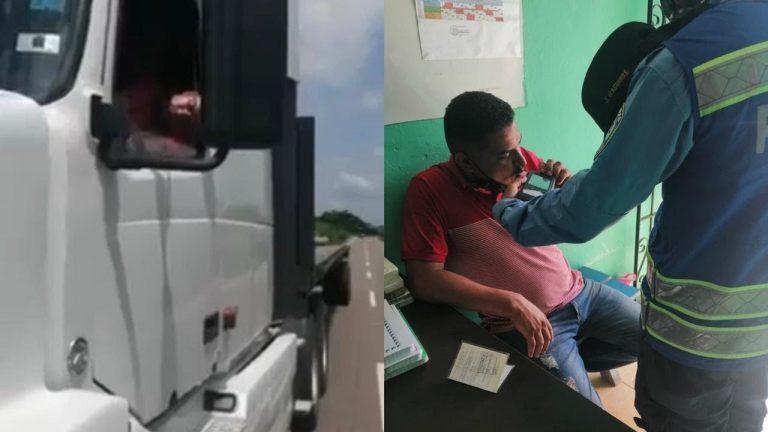 """Estaba """"ebrio"""": Encuentran dormido a conductor de una rastra en Cortés"""