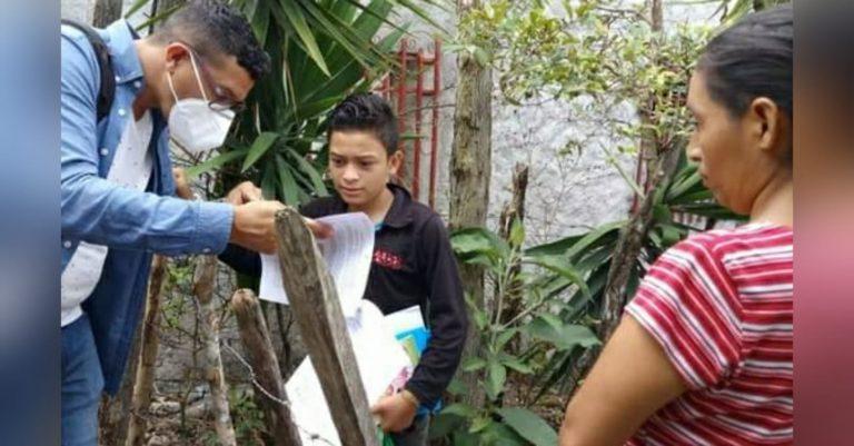 Maestros de Siguatepeque salen a buscar niños para reincorporarlos a clases