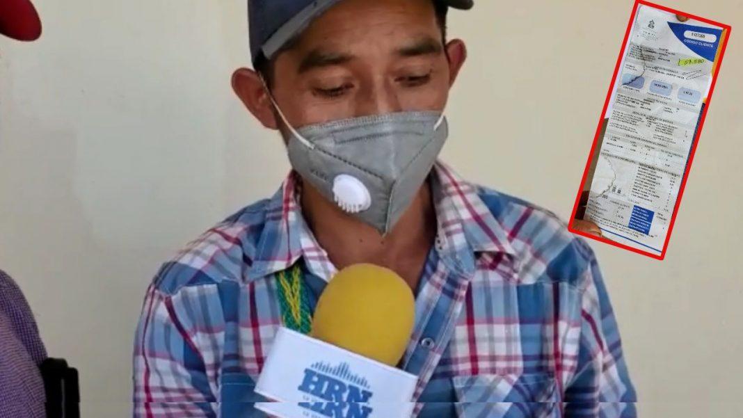 Agricultor recibo EEH Lempira