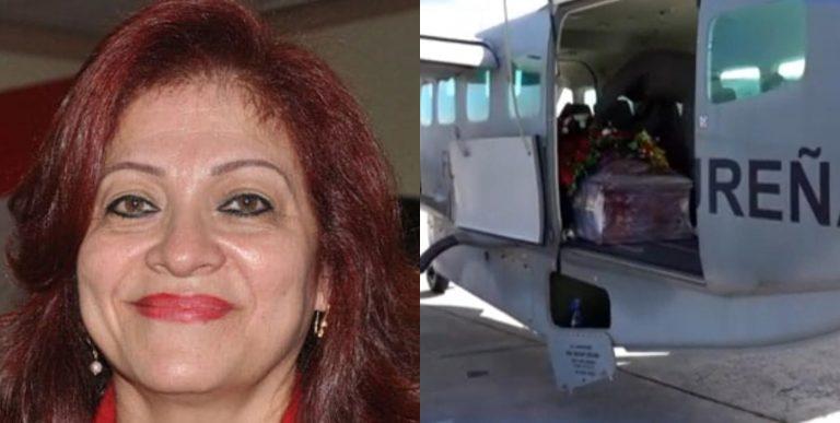 Trasladan restos de exdiputada Carolina Echeverría a La Mosquitia