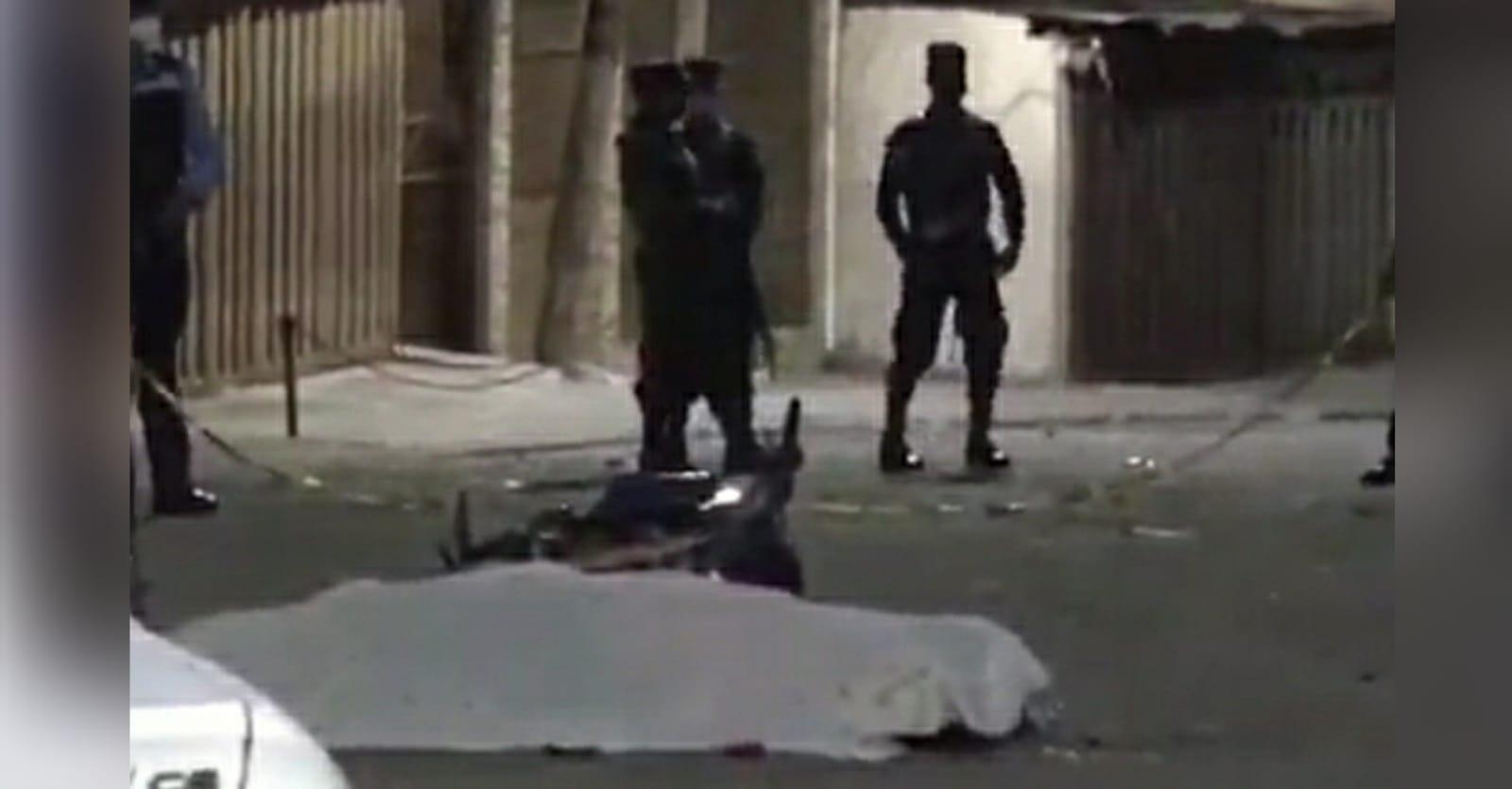 Escena del crimen en Las Mercedes, Comayagüela.